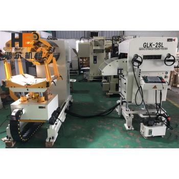 GLK2-800 3 In 1 Uncoiler Straightener Feeder Machine For Metal Stamping Line