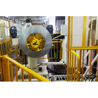 High-speed coil feeding line for motor core lamination stamping