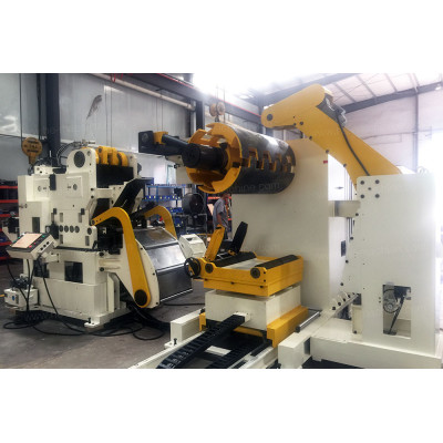 Heavy duty thick steel coil feeding line uncoiler straightener feeder GLK5-600