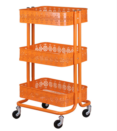 3 Tiers Utility Metal Mobile Rolling Storage Cart