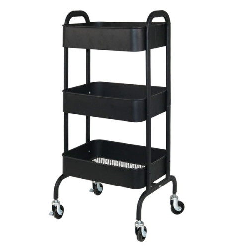 3-Tier Metal Heavy Duty Mobile Storage Organizer
