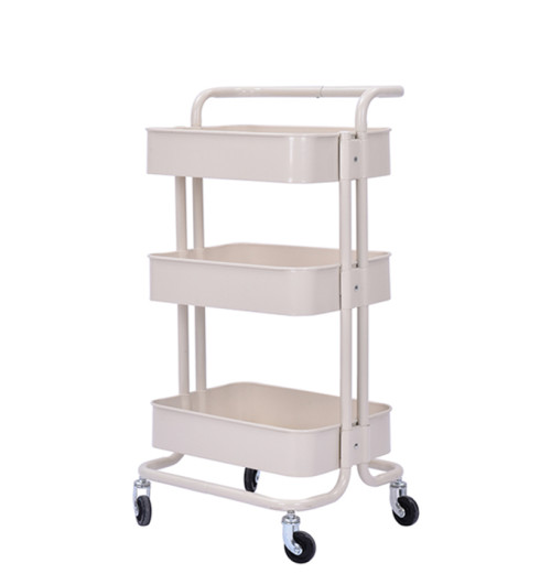 3 Tier Metal Multifunction Serving Trolley Cart with Handle