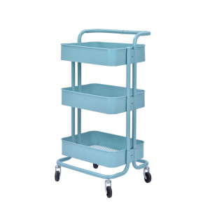 3 Tier Metal Multifunction Serving Trolley Cart with Handle