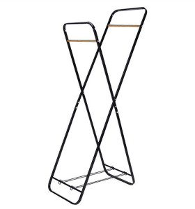 2 Tier Durable Shelf Laundry Hanger Rack