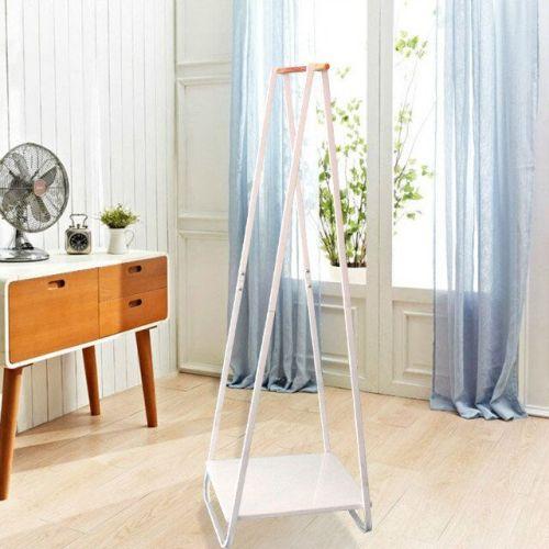 Metal Coat Rack and Shoe Bench Hanging Garment Rack