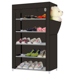 5 Tier Shoe Rack with Non-woven Fabric Cover