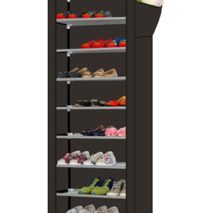 9 Tier Non-woven Fabric Cover Shoe Rack