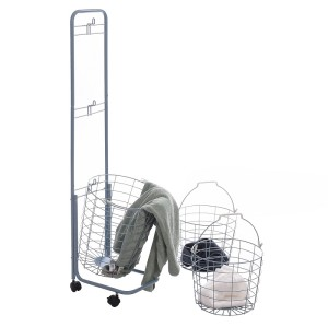 3 Tier Wire Basket Storage Rack with Wheels