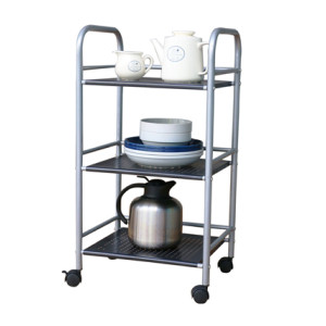 3 Tier Rolling Metal Kitchen Trolley Cart with Handles