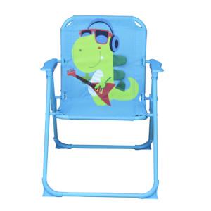 Kids 3D Cartoon Dinosaur Folding Chair with Armrest and High Back