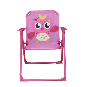 Kids 3D Cartoon Owl Folding Chair with Armrest and High Back