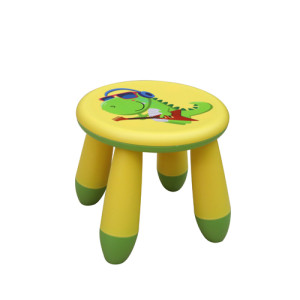 Plastic Cute Dinosaur Cartoon Round Stool for Kids