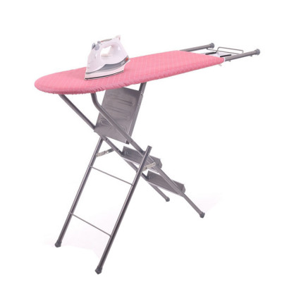Foldable Ladder Ironing Board with Cotton Cover and Iron Rest