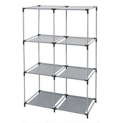 Open Shelves 3-tier 6 Cube Storage Closet