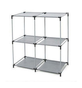 Open Shelves 2-tier 4 Cube Storage Closet