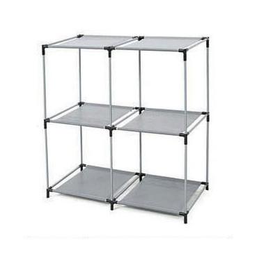 Open Shelves 2-tier 4 Cube Storage Closet
