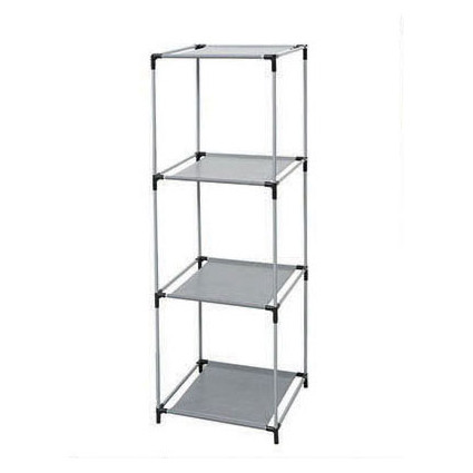 DIY Open Shelves 4-tier 4 Cube Storage Closet