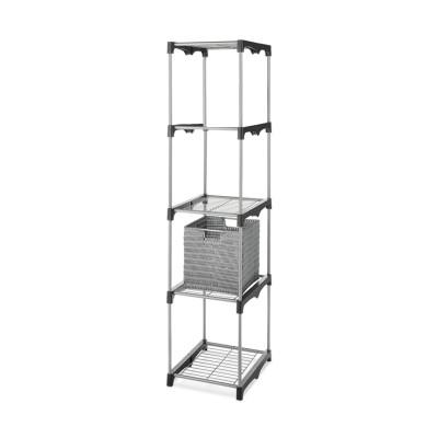 DIY Open Shelves 4-tier 4 Cube Storage Closet