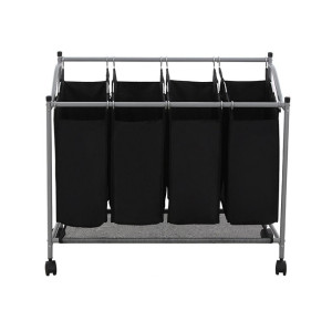 Mobile 4-Bag Heavy-Duty Laundry  Storage Cart