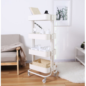 4 Tiers Utility Metal Mobile Rolling Storage Cart