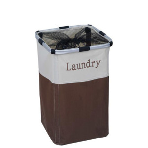 Square Foldable Laundry Hamper with Side Handles