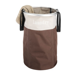 Round Foldable Laundry Hamper with Side Handles