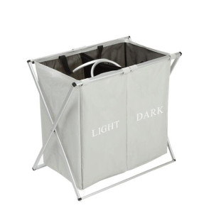 2 Grid Oxford Foldable Storage Bin/Laundry Hamper Basket Bag With Handle