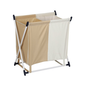 2 Sections Folding Laundry Organizer