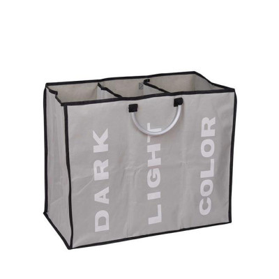 3 Sections Folding Laundry Bag with Handles