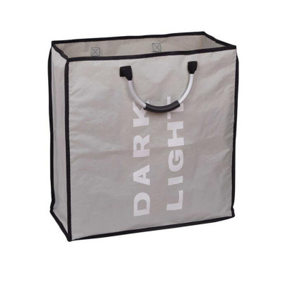 2 Sections Folding Laundry Bag with Handles