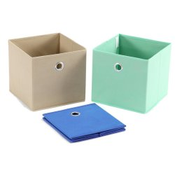 Simple Houseware Foldable Cube Storage Bin with Handles