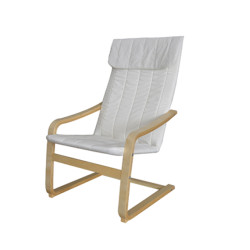 Modern Wooden Arm Chair with Machine Washable Cover