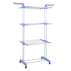 3 Tier Rolling Foldable Clothes Drying Rack