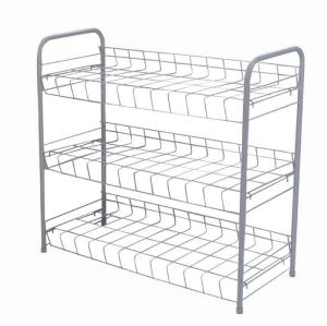 Durable 3 Tier Freestanding Shoe Rack with Handles