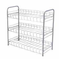 Durable 3 Tier Freestanding Shoe Rack with Handles
