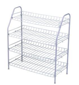 Metal Steel 4-Tier Shoe Rack Storage Organizer Shelf for Home Shoe Stand Rack