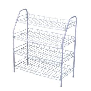 Durable 4 Tier Freestanding Shoe Rack with Handles