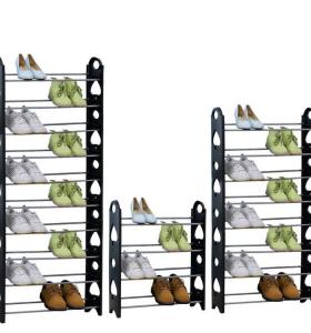 Large Capacity Durable Stainless Steel Shoe Rack