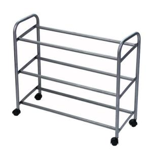 Metal Rolling 3 Tier Shoe Rack