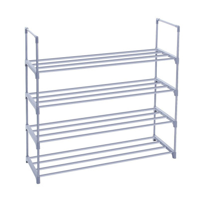 Durable 4 Tier Shoe Rack with Handles