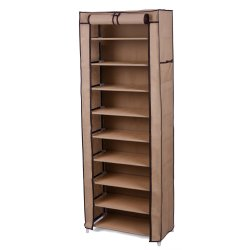 9 Tiers Non-woven Fabric Cover Shoe Rack