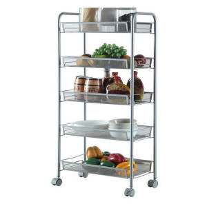 5 Tier Rolling Storage Cart with Handle