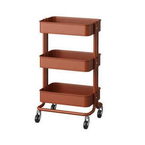 3 Tier Metal Multifunction Rolling Storage Cart