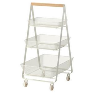 3 Tier Triangle Shape Rolling Storage Cart