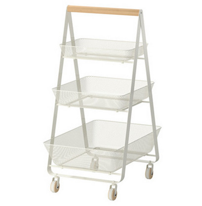3 Tier Triangle Shape Rolling Storage Cart