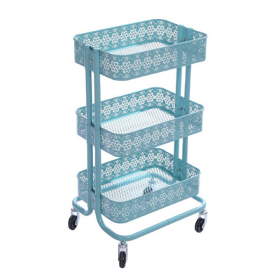 3 Tier Metal Rolling Storage Cart