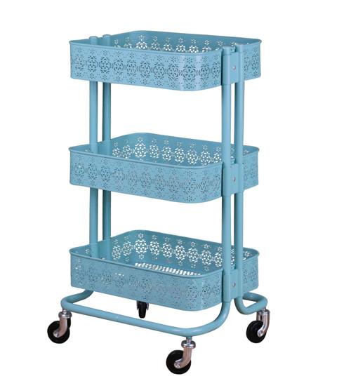 3 Tier Metal Rolling Storage Cart