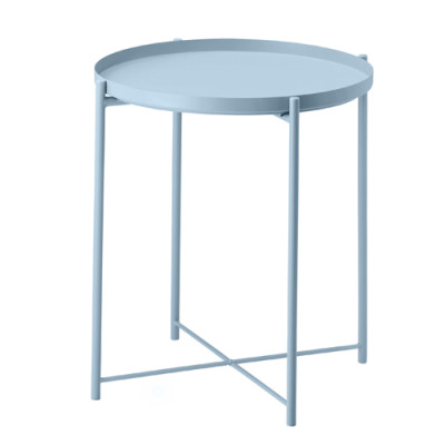X-Base Metal Coffee Side Table with Round Top