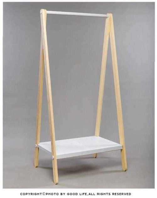 Single Rod Garment Rack with Shoe Bench