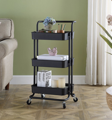 3 Tier Multifunction Serving Trolley Cart with Handle